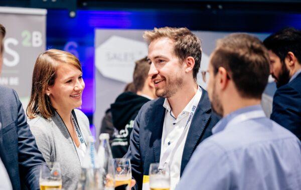 Netzwerken bei einem digital Event mit Julia Bögner und Stefan Mrozek