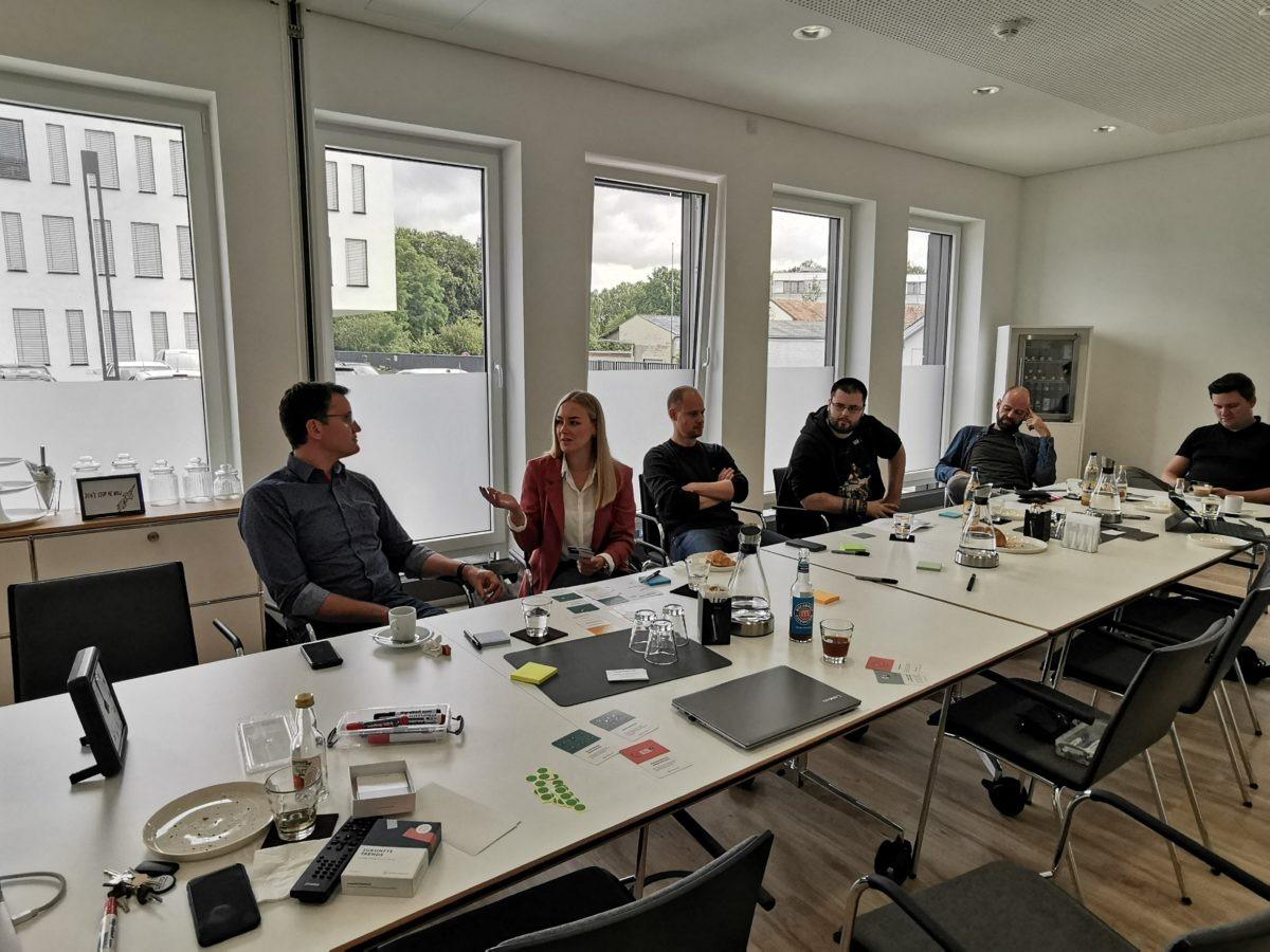 Ideensammlung neuer Geschäftsmodelle mit Workshopteilnehmern