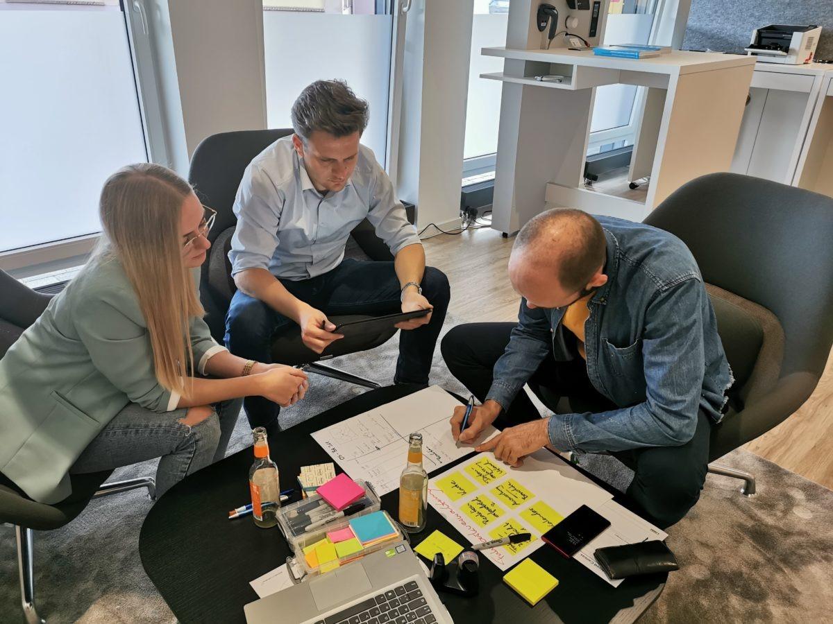 Gruppe erarbeitet neues Geschäftsmodell - Ideensammlung und Prototyping